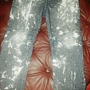 MY OWN BRAND HANDMADE SPLASH SASH Jeans - My HANDMADE OWN DESIGN JEANS SPLASH SASH FOR ALL